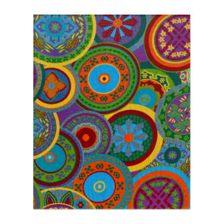 Mayakreis-Muster-Hintergrund Acryl Wandkunst