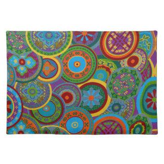 Mayakreis-Muster-Hintergrund Stofftischset