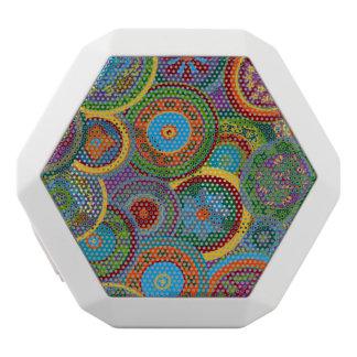 Mayakreis-Muster-Hintergrund Weiße Bluetooth Lautsprecher