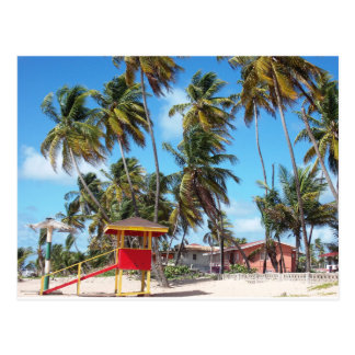 Mayaro Strand-Leibwächter-Turm, Trinidad-Postkarte Postkarte
