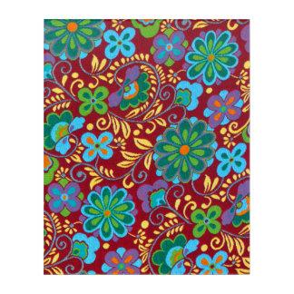 Mayarotes mit Blumenmuster Acryldruck
