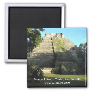 Mayaruinen bei Yaxha, Guatemala Quadratischer Magnet