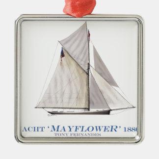 Mayflower 1886 silbernes ornament