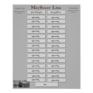 Mayflower Linie 16 Generationen Poster