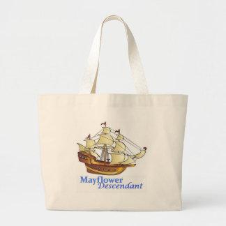 Mayflower Nachkomme-Segelschiff Jumbo Stoffbeutel