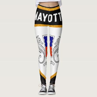 Mayotte-Flagge Leggings