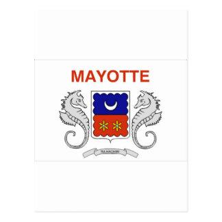 Mayotte-Flagge Postkarte