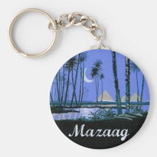 Mazaag Vintage Nacht Schlüsselanhänger