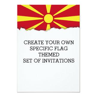 Mazedonien-Flagge Karte
