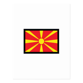 MAZEDONIEN-FLAGGE POSTKARTE