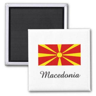Mazedonien-Flaggen-Entwurf Quadratischer Magnet