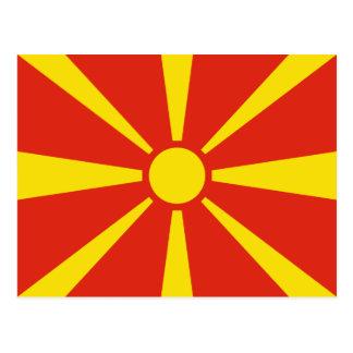 Mazedonien-Flaggen-Postkarte Postkarte
