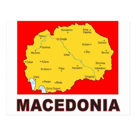 Mazedonien Karte.Mazedonien Karte Postkarte