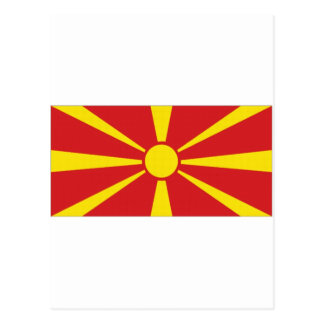 Mazedonien-Staatsflagge Postkarte