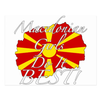 Mazedonische Mädchen tun es Bestes! Postkarte