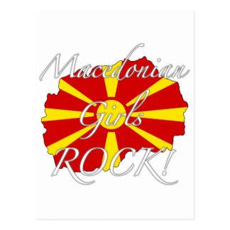 Mazedonischer Mädchen-Felsen! Postkarte