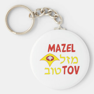 Mazel Tov Standard Runder Schlüsselanhänger