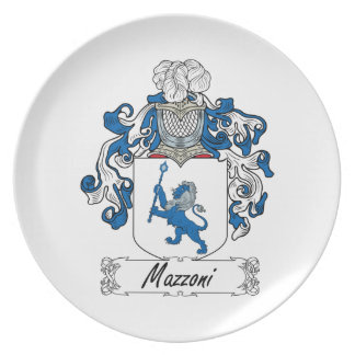 Mazzoni Familienwappen Teller