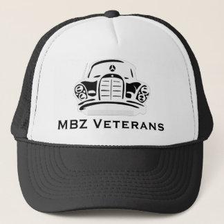 MBZ Veteranen-Hut-Schwarzes Pro Truckerkappe