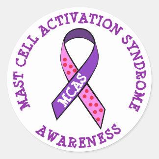 Mcas-Mast-Zellen-Aktivierungs-Syndrom-Bewusstsein Runder Aufkleber