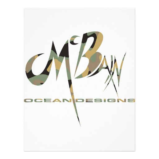 McBain Ozean entwirft grünes Cammo Flyer Druck