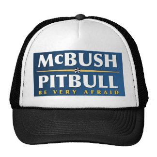 McBush u. Pitbull Hut Netzkappen