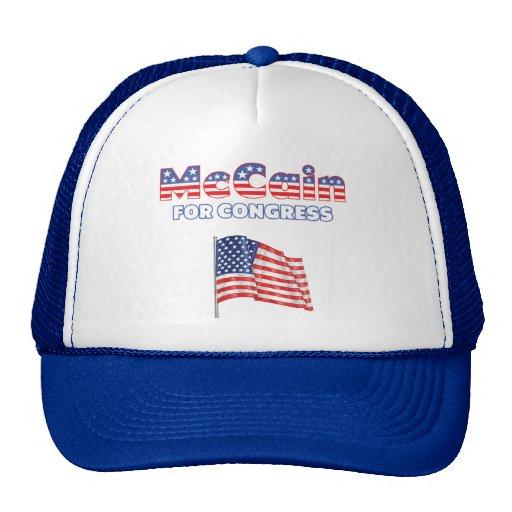 McCain für Kongress-patriotische amerikanische Fla Baseball Kappe
