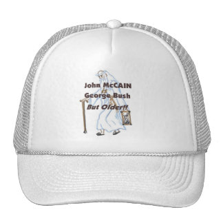 McCain ist Bush aber älterer Hut Netzkappe
