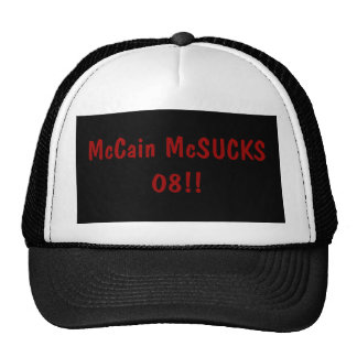 McCain McSUCKS 08!! Baseball Kappe