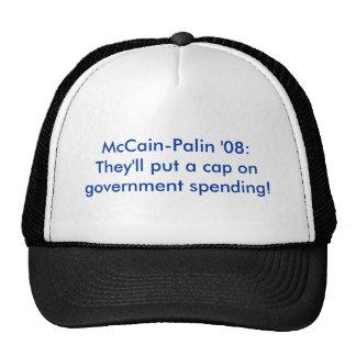 McCain-Palin '08: Sie setzen eine Kappe auf govern