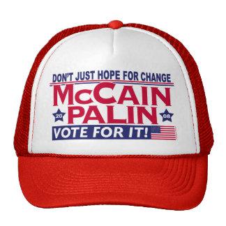 McCain Palin 2008 Netzkappen