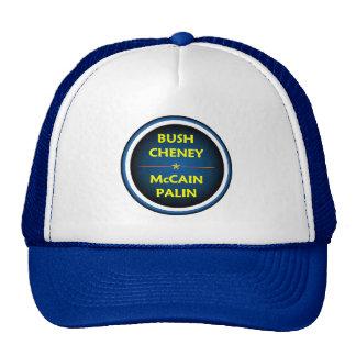 McCain Palin BUSH Hut Baseballcaps