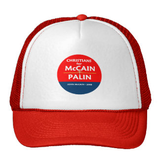 McCain Palin Christ-Hut Retrokultkappe