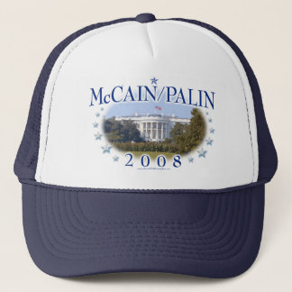 McCain Palin das Weiße Haus 2008 Truckerkappe