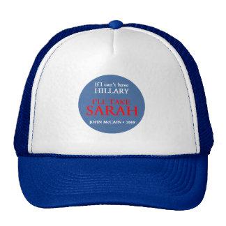 McCain Palin HILLARY Hut Netzkappen