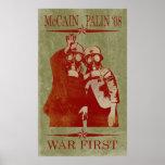 McCain Palin Kriegs-erstes Plakat