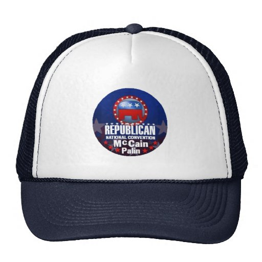 McCain Palin RNC Hut Truckercap