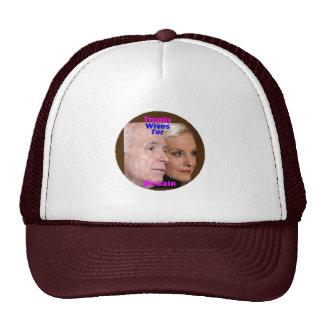 McCain Trophäe-Ehefrau-Hut Retrokultcap
