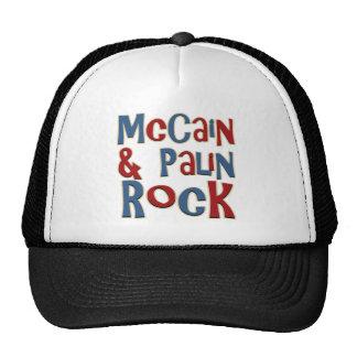 McCain und Palin Felsen Retromütze