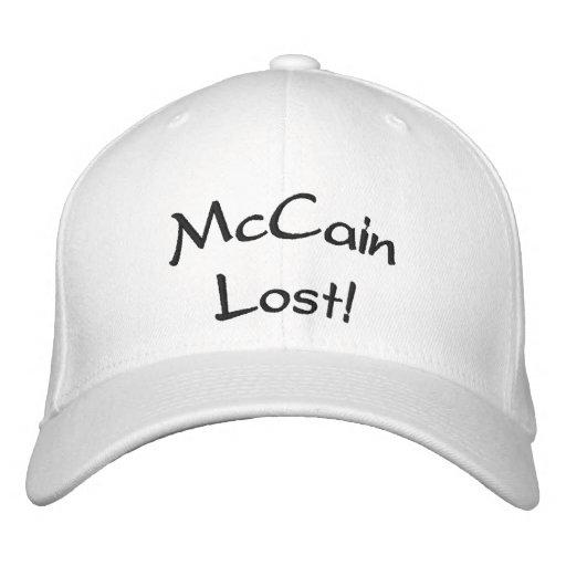"""""""McCain verlor!"""" Hut Bestickte Mütze"""