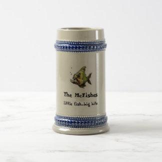 McFishes Bier Stein Bierglas