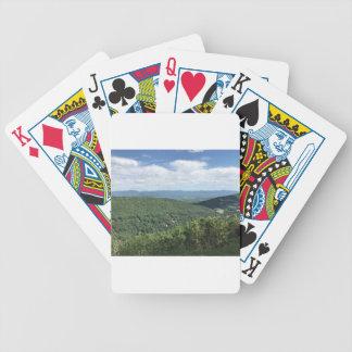 McGaheysville, Virginia-Mountain View Bicycle Spielkarten