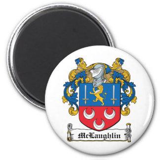 McLaughlin Familienwappen Runder Magnet 5,7 Cm