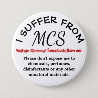 MCS-Bewusstsein und warnender Knopf Runder Button 7,6 Cm