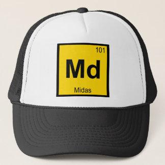 Md - Chemie-Periodensystem-Symbol Midas Truckerkappe