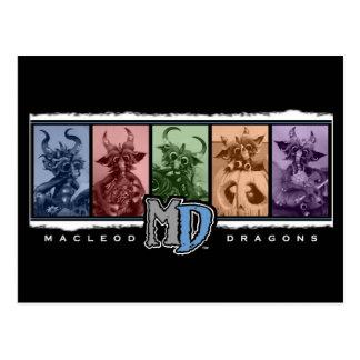 MD farbige Bar-Logo-Postkarte Postkarte