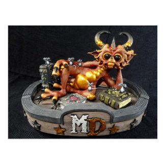 Md-Feuer-Drache-Postkarte Postkarte