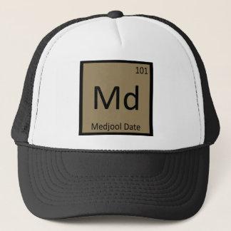 Md - Medjool Datums-Chemie-Periodensystem-Symbol Truckerkappe