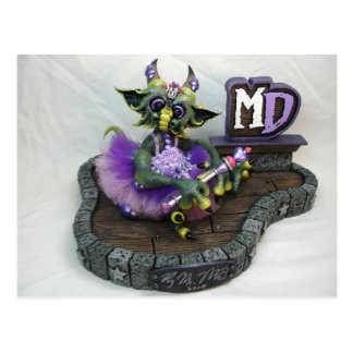 MD Prinzessin Dragon Postcard Postkarte
