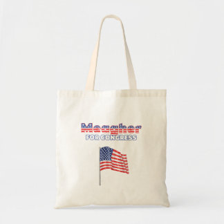 Meagher für Kongress-patriotische amerikanische Fl Leinentaschen